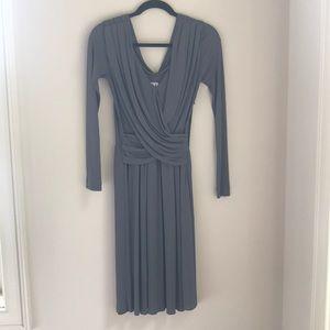 Halston Heritage grey long sleeve dress 2